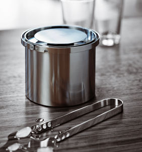stainless steel ice bucket / for domestic use