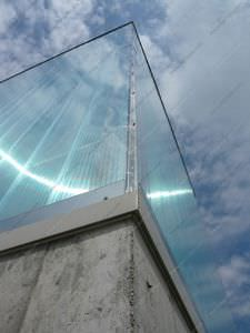 polycarbonate curtain wall panel / modular