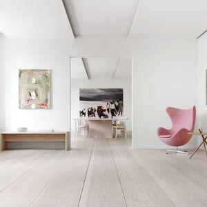 solid parquet floor / glued / floating / Douglas fir