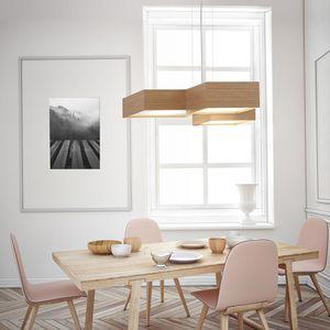 pendant lamp / contemporary / metal / plywood