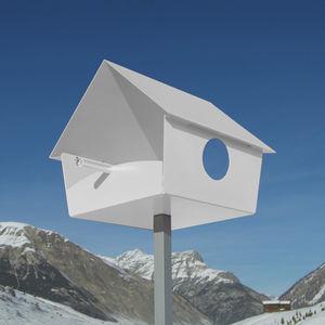 powder-coated steel birdhouse