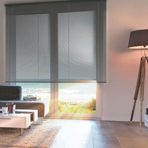 Venetian blinds / aluminum / motorized / chain-operated