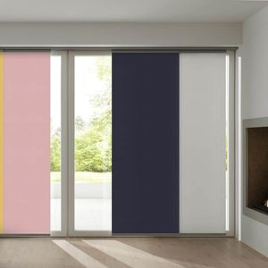 sliding panel blinds / canvas / sun protection / cord-operated