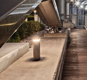 public space bollard light / contemporary / aluminum / polycarbonate
