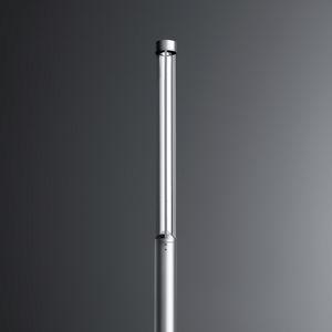contemporary light column / aluminum / LED / urban