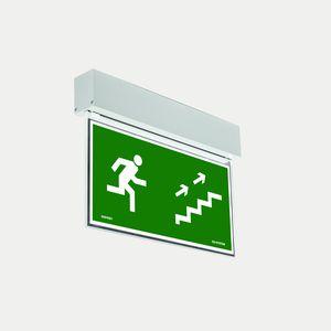 surface mounted emergency light / rectangular / LED / aluminum profile