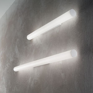 contemporary wall light / painted metal / PMMA / LED