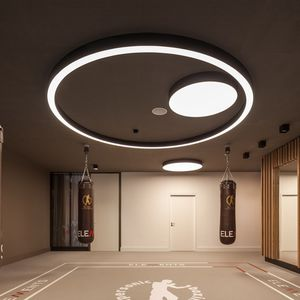 surface-mounted light fixture / LED / round / plastic
