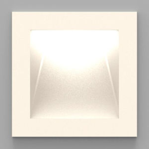recessed wall light fixture / LED / square / painted metal