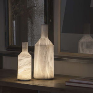 table lamp / contemporary / alabaster / dimmable