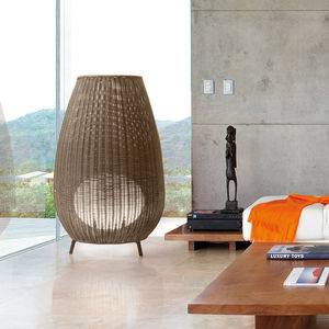 floor lamp / contemporary / polyethylene / synthetic fiber