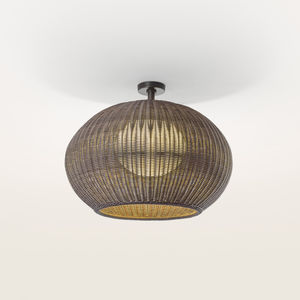 contemporary ceiling light / round / polyethylene / synthetic rattan