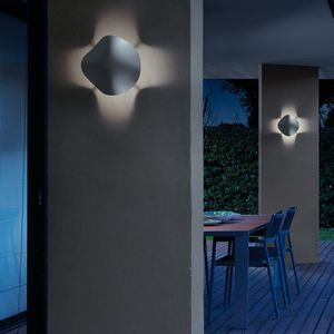 contemporary wall light / outdoor / polyurethane / LED