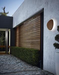 contemporary wall light / outdoor / aluminum / wooden