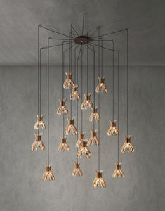 pendant lamp / contemporary / aluminum / wooden