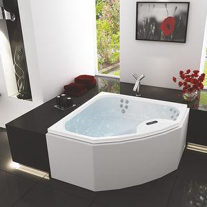 corner bathtub / acrylic / medical / 3-seater