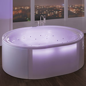 freestanding bathtub / oval / acrylic / glass