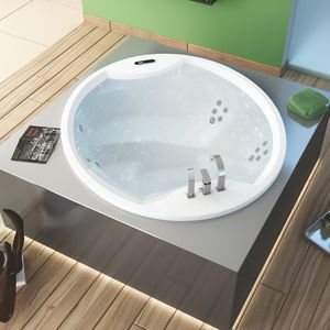 oval bathtub / acrylic / medical / 4-seater