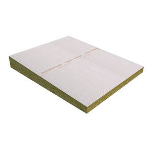 thermal-acoustic insulation / stone wool / for flat roofs / panel