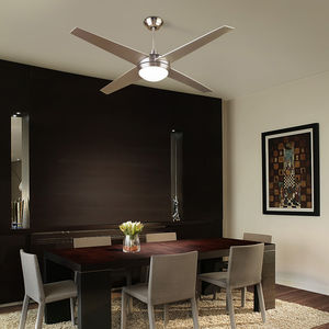 ceiling fan / residential / aluminum / glass