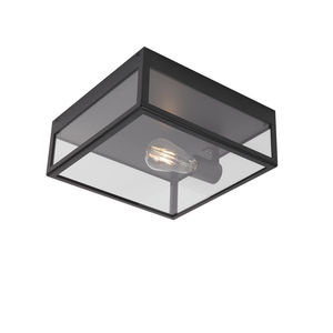 contemporary ceiling light / square / stainless steel / LED