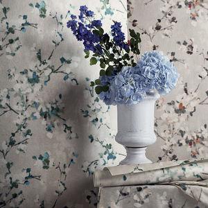 contemporary wallpaper / floral / fabric look / color