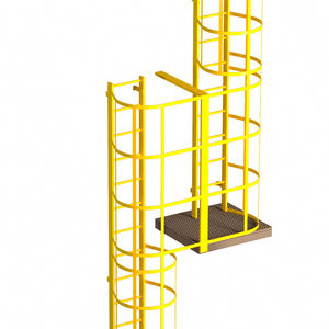metal ladder / with safety cage