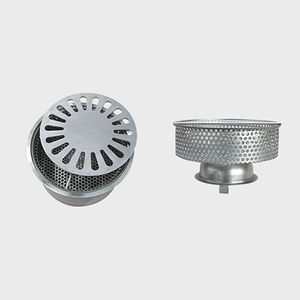 stainless steel floor drain / for industrial applications / grated / with basket