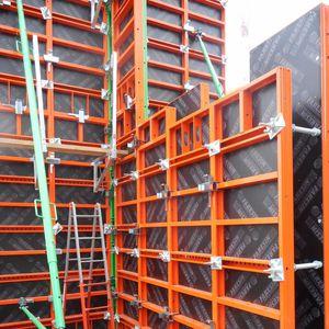 modular formwork / steel / wall / adjustable