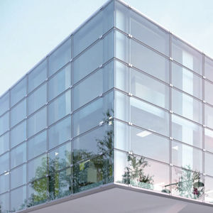 point-fixed curtain wall / glass