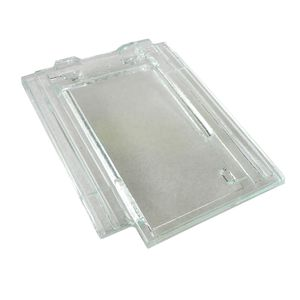 french roof tile / glass / transparent