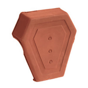 end roof tile / clay