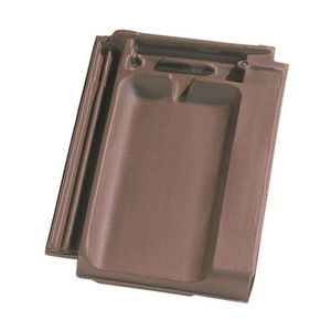 french roof tile / clay / embossed / double