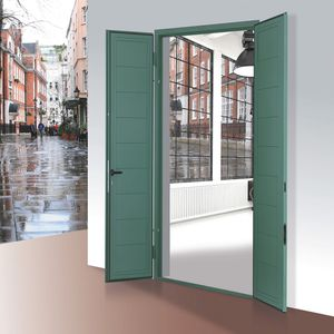 swing shutters / galvanized steel / door / security
