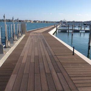WPC deck boards / wood look / waterproof / recycled