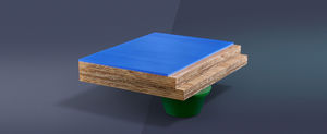 synthetic sports flooring / wooden / indoor / for multipurpose gyms