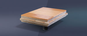 wooden sports flooring / indoor / for multipurpose gyms