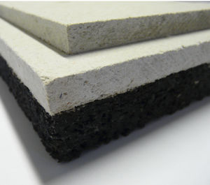 acoustic insulation / rubber / for floors / panel