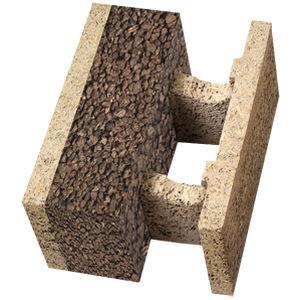 wood fiber concrete formwork block