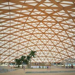 glulam wooden truss / roof truss / for shelters / for public spaces