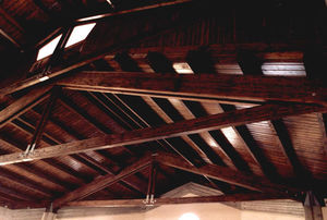 wooden roof framing