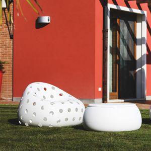 original design armchair / polyethylene / white / commercial