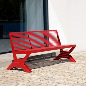 contemporary public bench