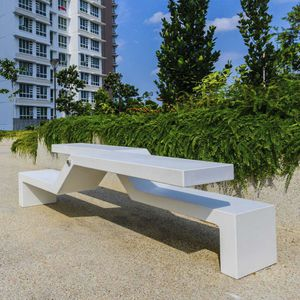 public bench / contemporary / granite / marble