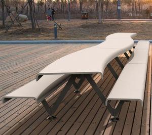 original design bench and table set
