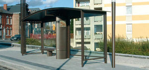 metal bus shelter / glass