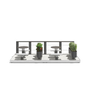 parklet with integrated planter