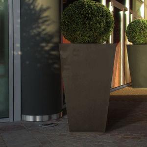 metal planter / square / contemporary / for public spaces