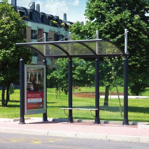 metal bus shelter