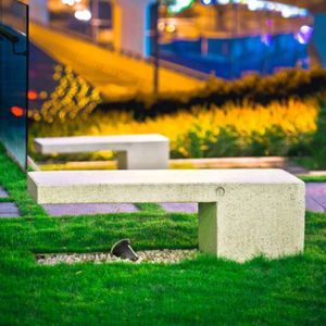 public bench / contemporary / stone